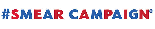 smear campaign dog poop bags logo in red and blue