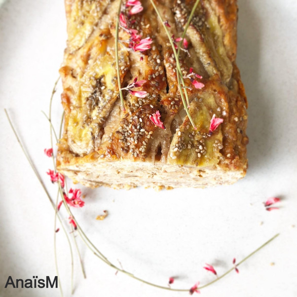 Vegan poire et banana bread