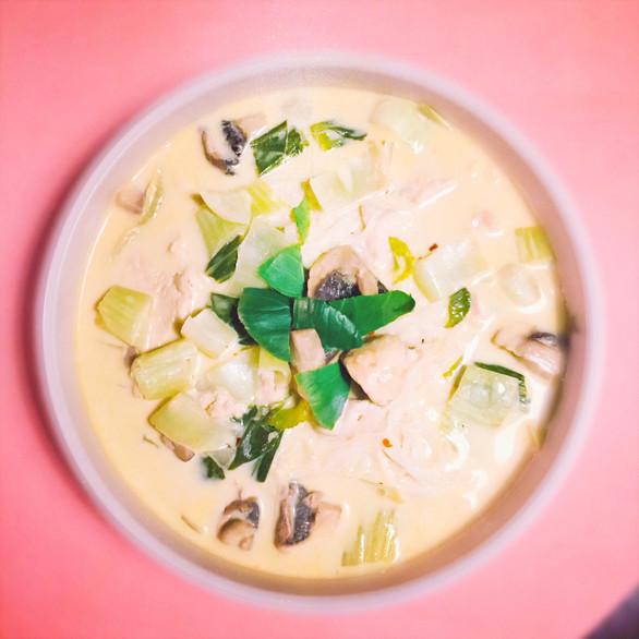 Soupe Coco-Pak choï pour les journées glaciales de printemps