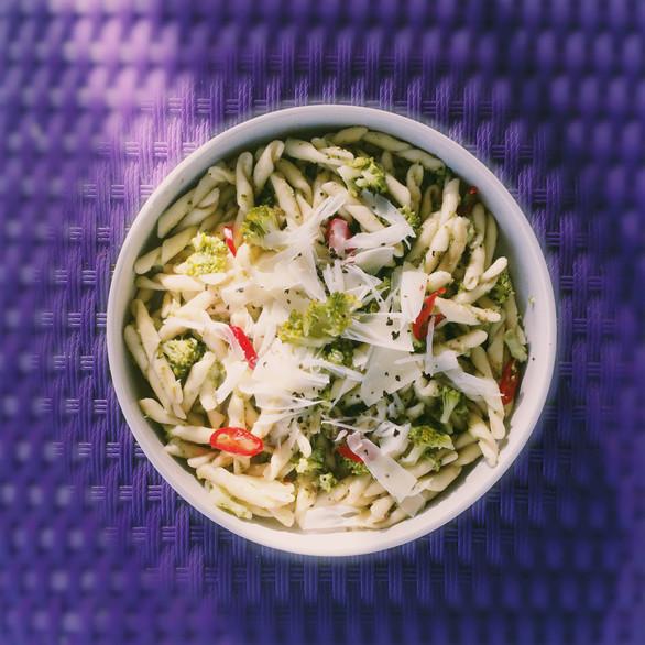 Pasta brocoli-noisette-piment