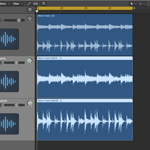 How to split a Stereo track into two mono tracks in Logic Pro X