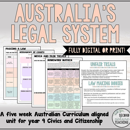 AUSTRALIA'S LEGAL SYSTEM - 5 WEEK UNIT