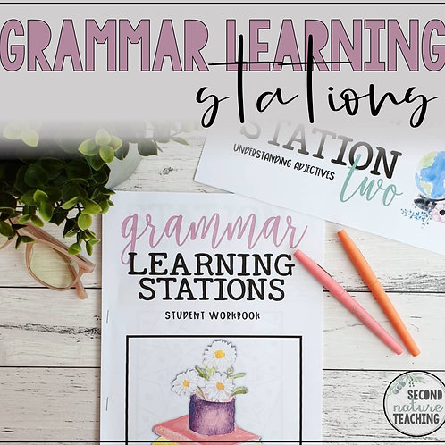 GRAMMAR LEARNING STATIONS FOR MIDDLE SCHOOL