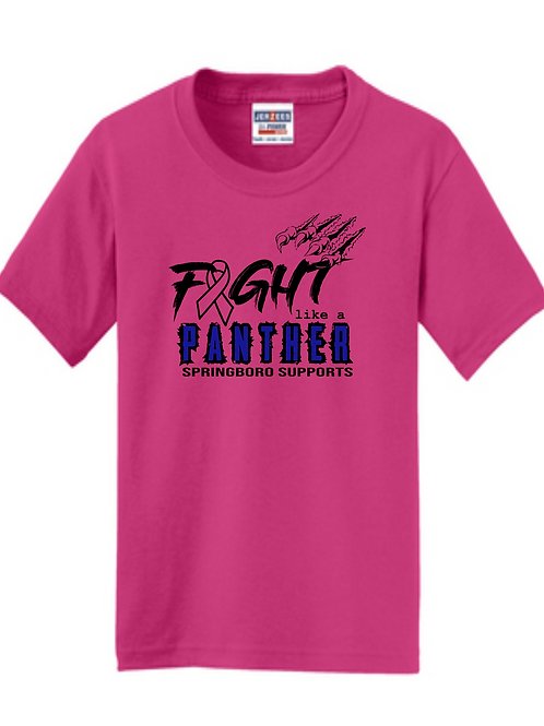 YOUTH 50/50 BREAST CANCER TEE