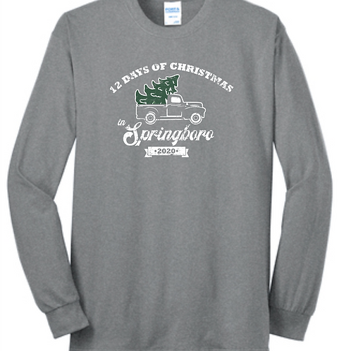 XMAS IN BORO UNISEX 50/50 LONG SLEEVE GRAY