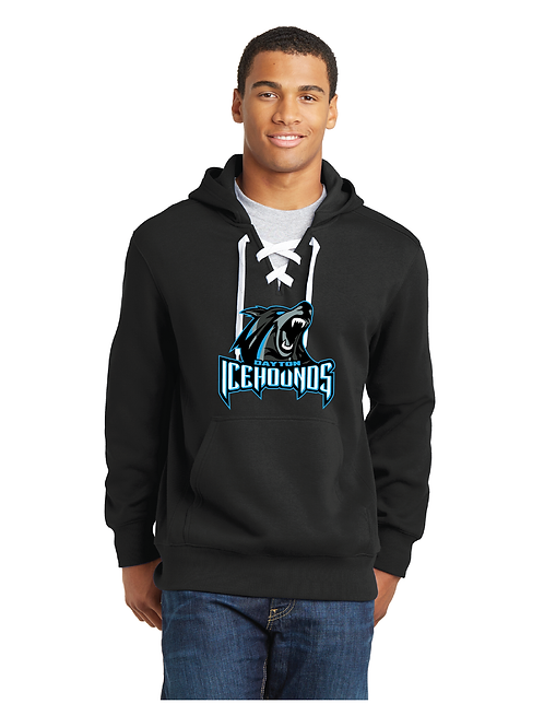 ICEHOUNDS - LACE  UP HOODIE