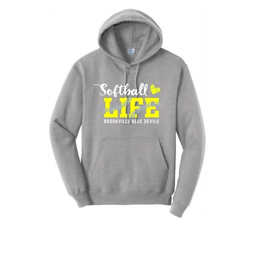 BROOKVILLE SOFTBALL LIFE 50/50 HOODIE