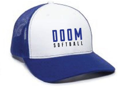 DOOM SOFTBALL HAT WHITE/BLUE
