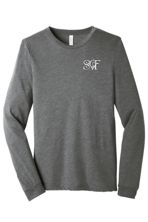 SVF UNISEX TRIBLEND LONG SLEEVE- GRAY