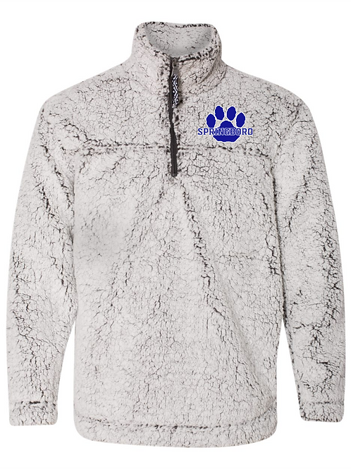 PEEWEE 1/4 ZIP EMBROIDERED SHERPA