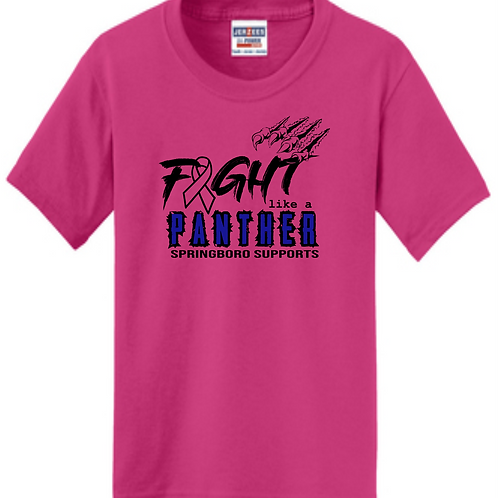 UNISEX 50/50 BREAST CANCER TEE