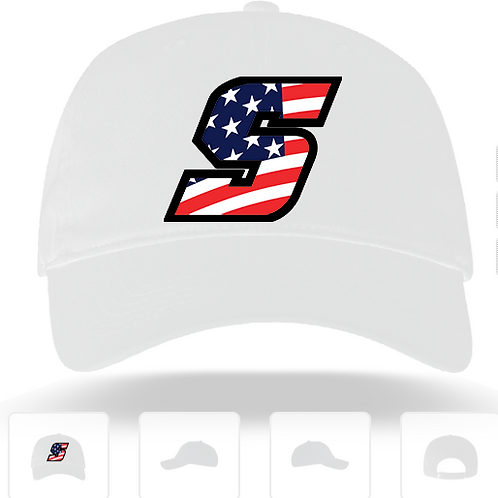 9U WHITE AMERICAN HAT