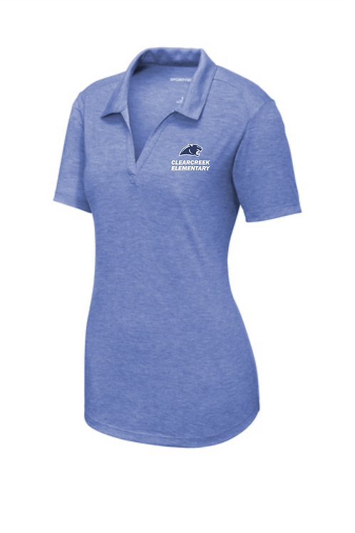 LADIES TRIBLEND WICKING POLO