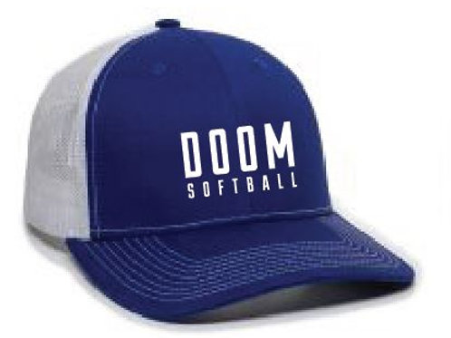 DOOM SOFTBALL HAT BLUE/WHITE