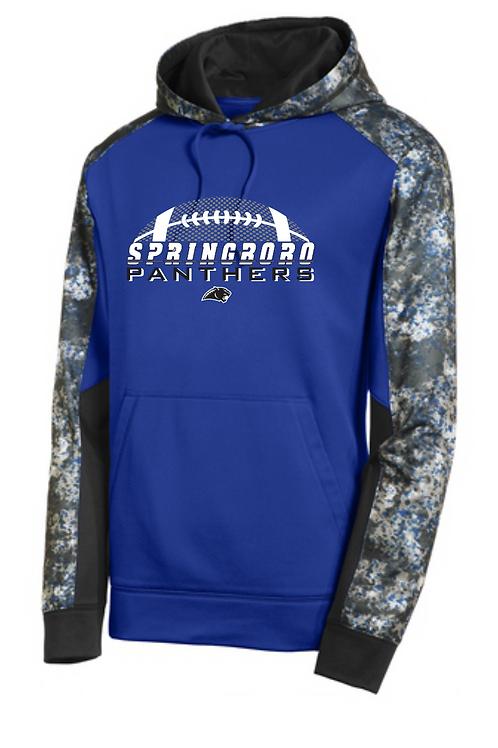 Sport-Tek® Sport-Wick® Mineral Freeze Fleece Colorblock Hooded Pullover