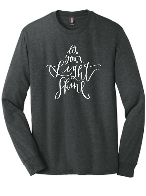 LIGHT SHINE TRIBLEND LONG SLEEVE TEE