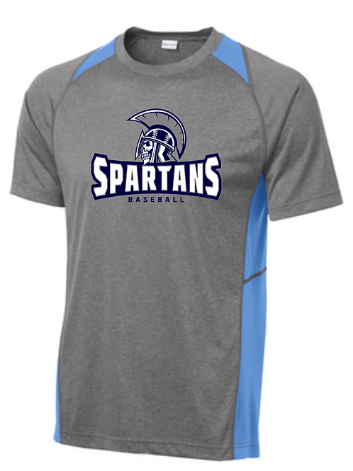 Spartans Unisex Colorblock Dri fit Tee