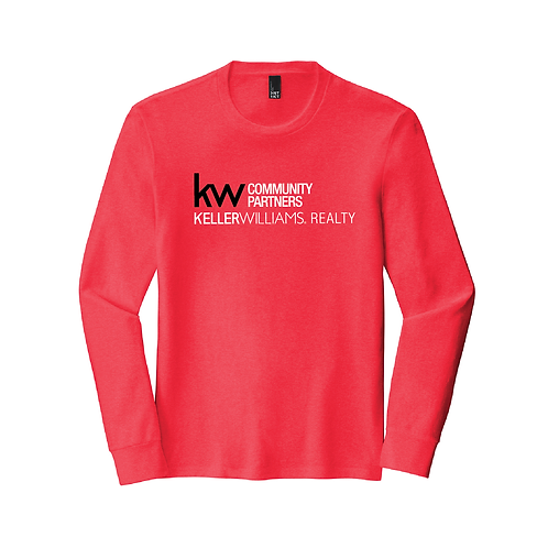 KW FULL FRONT UNISEX TRIBLEND LONGSLEEVE TEE RED