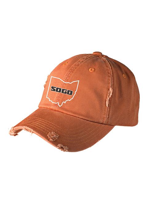 SOGO - UNSTRUCTURED HAT ORANGE