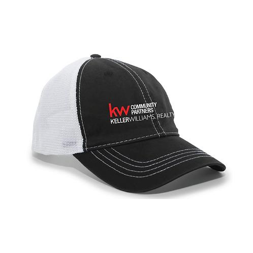 KW UNSTRUCTURED HAT BLACK/WHITE