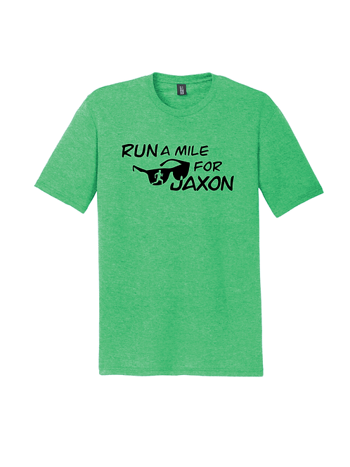 RUN FOR JAXON TEE - GREEN FROST
