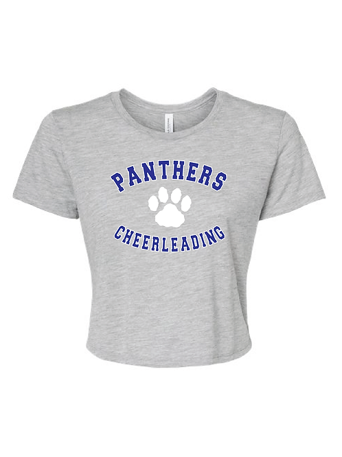 CHEER PAW CROPPED TEE GREY