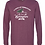 Thumbnail: XMAS IN BORO UNISEX TRIBLEND LONG SLEEVE MAROON