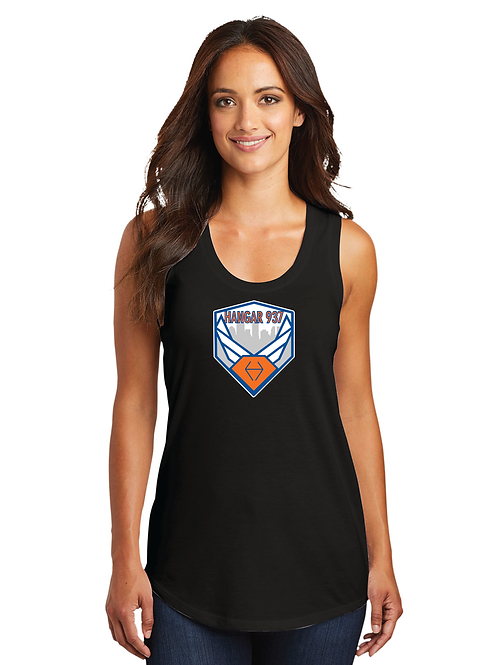 HANGAR 937 LADIES TRIBLEND TANK BLACK