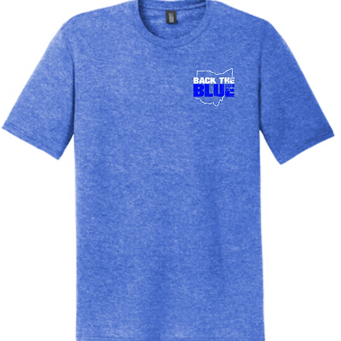 BACK THE BLUE TRIBLEND TEE- ROYAL FROST