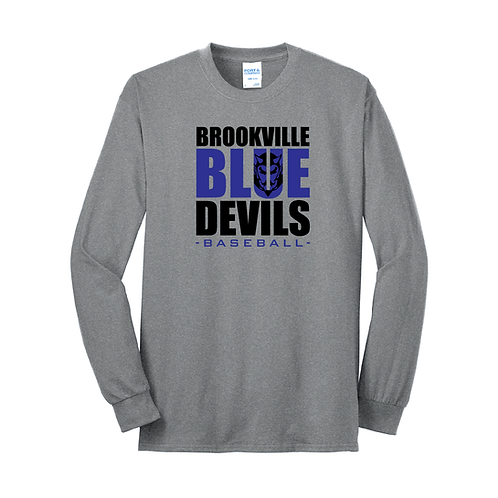 BROOKVILLE BASEBALL BLUE DEVILS LONG SLEEVE