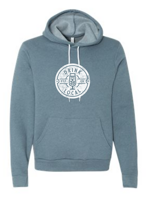 BELLA HOODIE HEATHERED SLATE-DRINK LOCAL