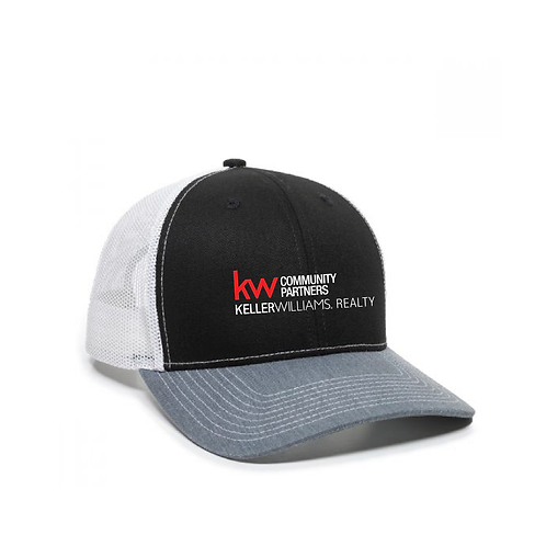 KW STRUCTURED HAT BLACK/GREY/WHITE
