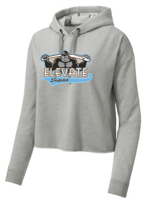 ELEVATE LADIES CROPPED TRIBLEND HOODIE