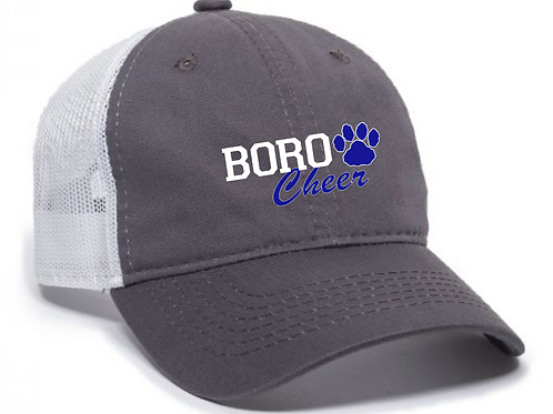 CHEER UNSTRUCTURED GRAY HAT