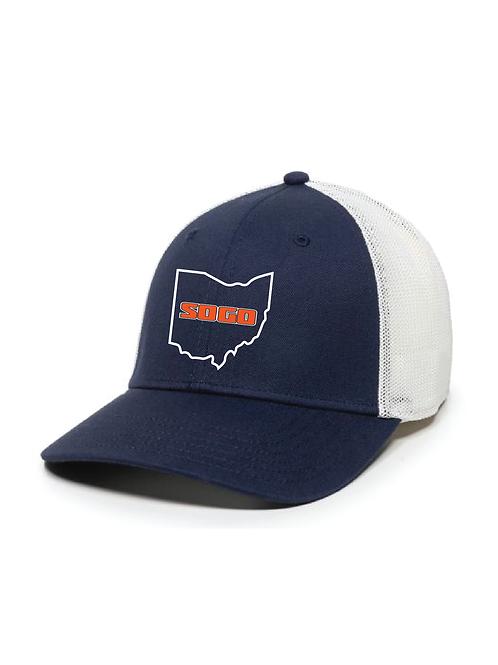 SOGO - STRUCTURED HAT NAVY/WHITE