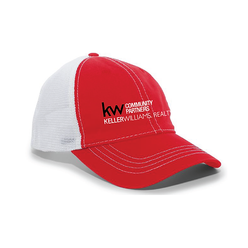 KW UNSTRUCTURED HAT RED/WHITE