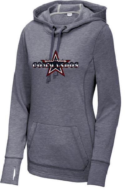 Ladies triblend hood sweatshirt COMMANDOS