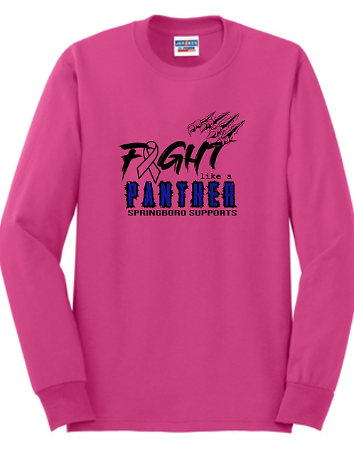 YOUTH 100% COTTON BREAST CANCER LONG SLEEVE