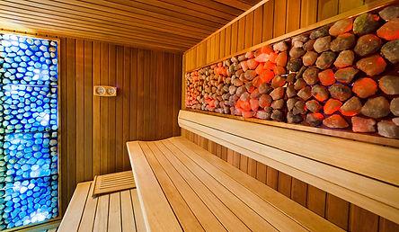 construction sauna de sel