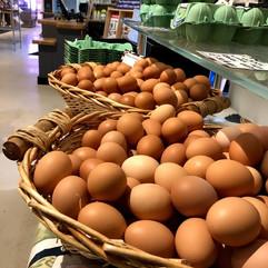 Freshly laid organic eggs from Farringtons farm shop