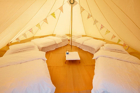 Bell tent glamping near bristol and bath