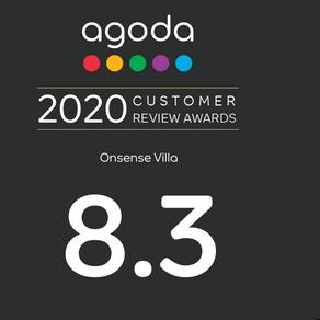 Onsense Villa 獲選為Agoda 2020年「旅客優良評鑑獎」得主
