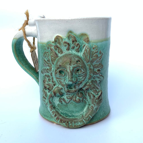 Durham sanctuary door knocker mug