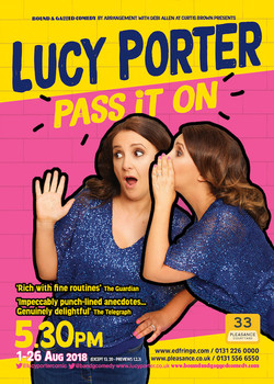 Lucy Porter Pass it on Tour 2018