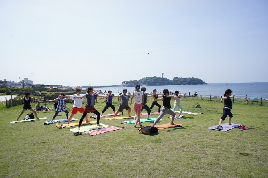 Beach yoga for  all level