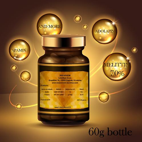 Bee venom powder, 60g bottle, medical grade, 70% melittin, without impurities