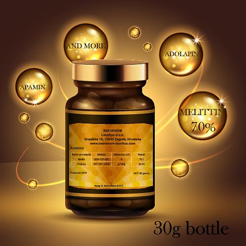 Bee venom powder, 30g bottle, medical grade, 70% melittin, without impurities
