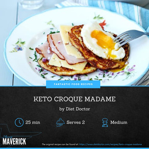 Keto Croque Madamme - An easy keto dish for two.
