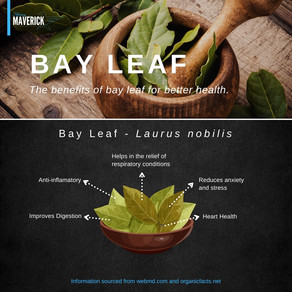 Bay Leaf: For better health: