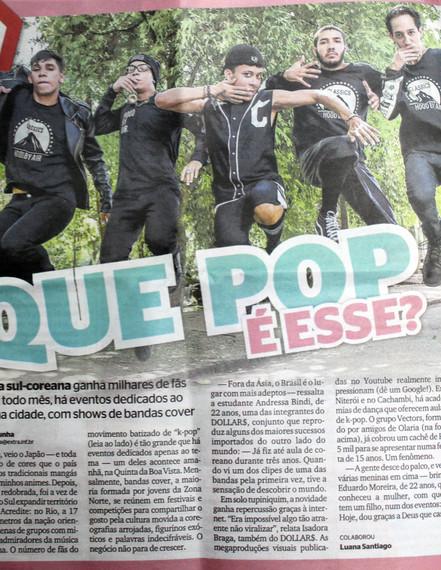 Vectors no caderno Diversão do Jornal Extra